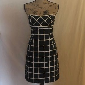 Trina Turk Las Angeles Black and White Mini Dress